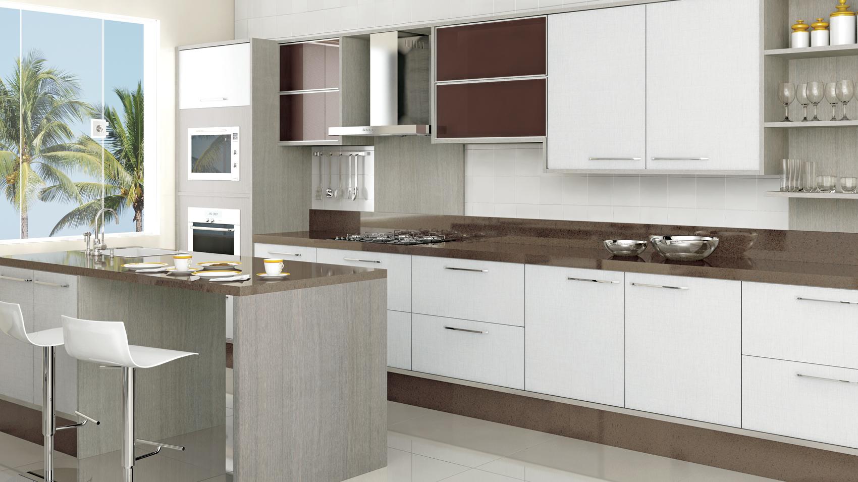 Vitta Ambientes Planejados » Portfolio Cozinhas #47362D 1700x955 Armario Banheiro De Embutir