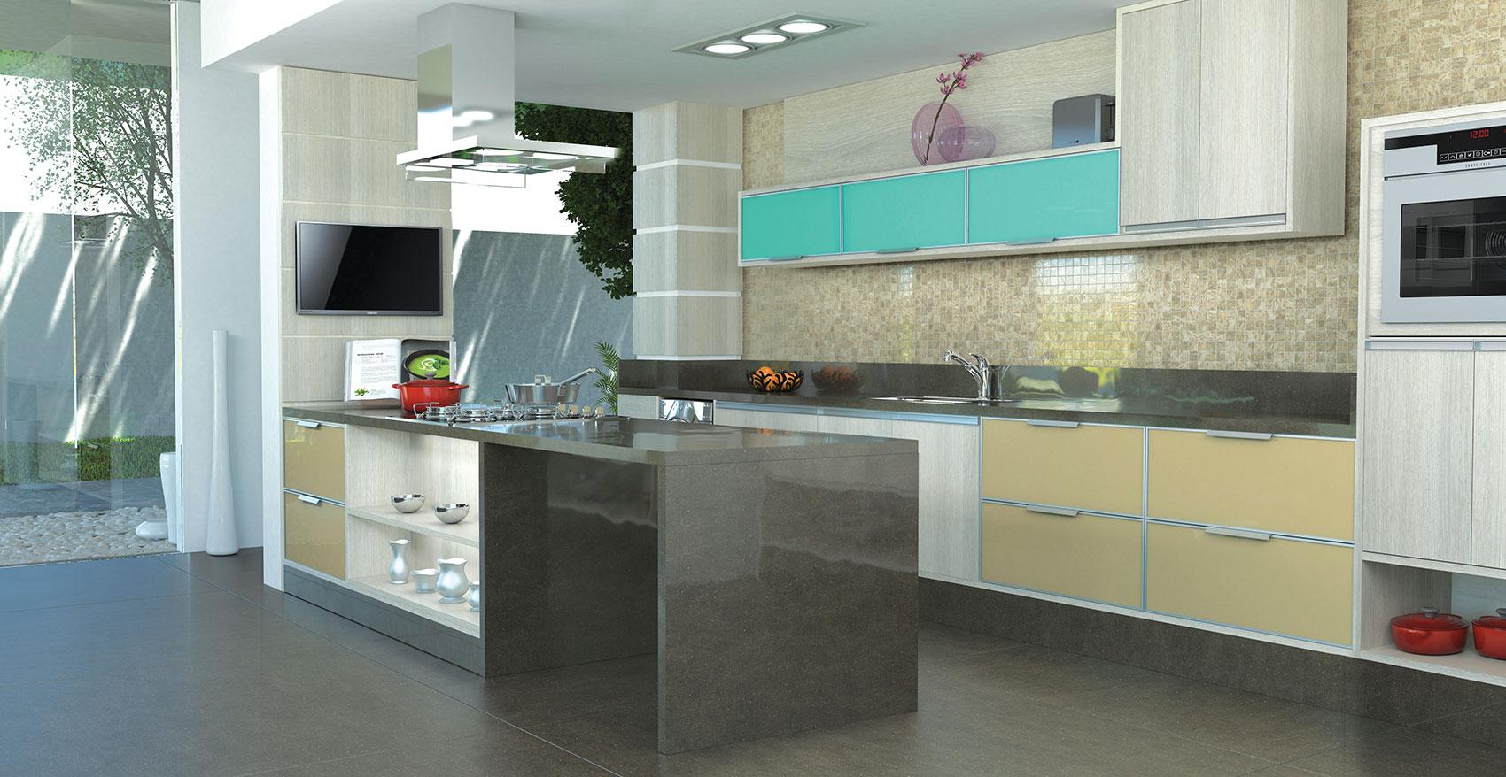 Cozinha Com Armários Nas Cores Branco Com Marrom Pictures to pin on  #693F36 1700 878